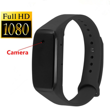 Sports Wearable Mini Camera Full HD 1080P Sport Camera Ultra Mini Wristband Camcorders DV Video Recorder Voice Record TF Card(China)
