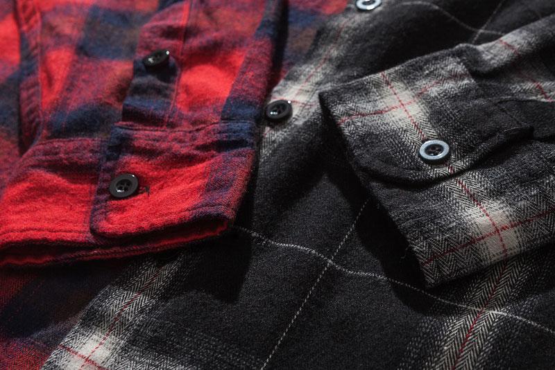 Vintage Contrast Color Block Plaid Shirt 6