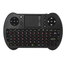 VIBOTON S501 Mini 2.4GHz Wireless QWERTY Keyboard Air Mouse Combo For Computer, Android TV box / phone Russian/English Version(China)