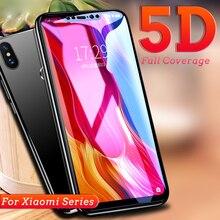 Jappinen 5D Full Cover Tempered Glass Xiaomi Mi Redmi Note 5 6 Pro Plus A2 Lite Pocophone F1 8 SE Full Glue Screen Protector