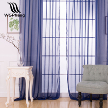 WSPhang 1 Pcs Fashion Solid Sheer Curtain Window Screening Doris Curtains Livingroom Bedroom Modern Style Curtain W100xH200cm