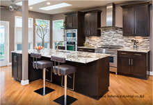 solid wood kitchen cabinet(LH-SW095)