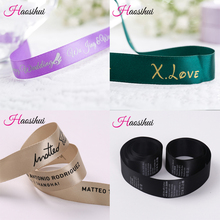 Free design 6mm-75mm customized printed logo ribbon,gift packaging satin polyester decoration for wedding event 100 yard /lot(China)