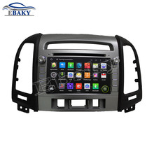 NaviTopia Brand 1024*600 Quad Core 16G 7inch Pure Android 5.1.1 Car DVD Player for Hyundai SANTA FE 2012 with vehicle GPS navi(China)