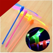 2015 New Glow Lights Toys LED Flash bamboo dragonfly flying rotor led toy Free Shipping wholesale
