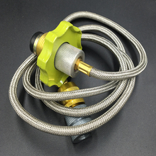 Braided hose length 100cm Outdoor Stove Burner Furnace Converter Connector Gas Tank Adapter Pouch Camping Cooking Equipment