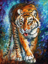 Free Shipping High Quality Modern Animal Tiger Oil Painting For Wall Decoration Abstract Tiger Painting For Living Room
