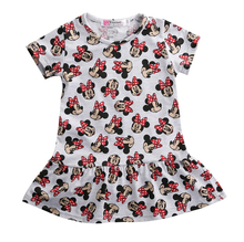 Dresses 2016 Cute Children Kids Baby Girls Clothes Minnie Mouse Cartoon Dress Clothing Summer Mini Short Dress Clothes 2-7Y