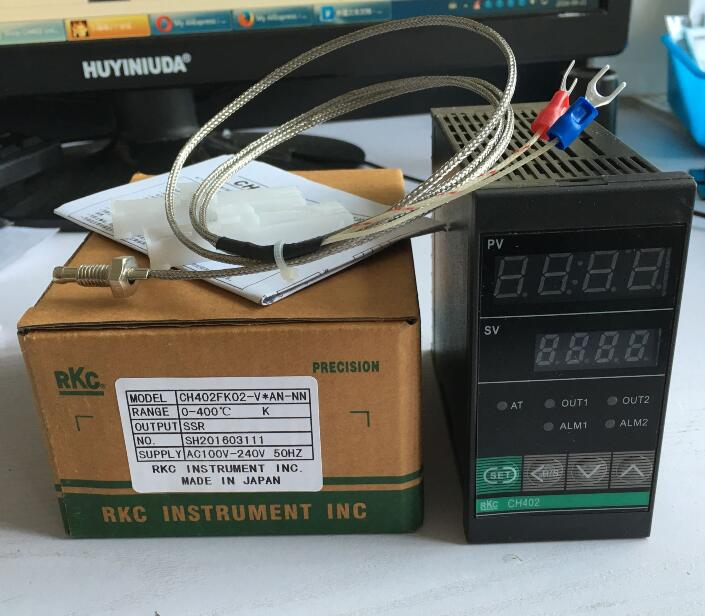 RKC temperature controller thermostat CH402 FK02-V*AN-NN with 1M thermocouple K SSR output<br><br>Aliexpress