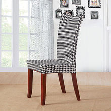 Striped Chair Protector Floral Dining Chair Cover Stretch Spandex Pastoral Slipcover Fashion Home Textile(China)