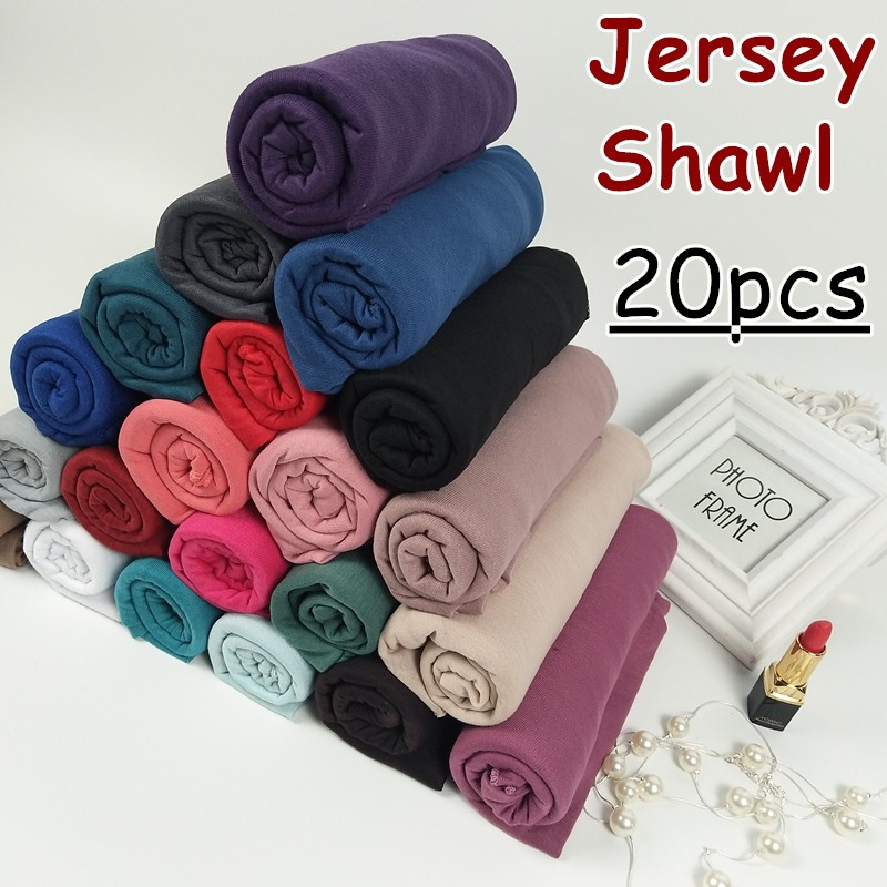 30 color High quality jersey scarf cotton plain elasticity shawls maxi hijab long muslim head wrap long scarves/scarf 10pcs/lot