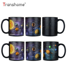 Transhome Creative Porcelain Coffee Mug 380ml The Solar System Color Chang Mug Milk Ceramic Cups And Mugs Coffee Mug For Office(China)