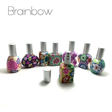 Brainbow 1piece 15ml Empty Perfume Bottle Polymer Clay Refillable Bottle Spray Scent Pump Case Mini Travel Size Color Randomly(China)