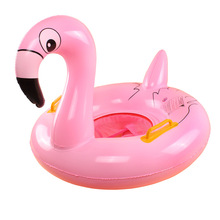 2017 Baby Swimming Ring Seat Inflatable Flamingo Swan Pool Float Baby Summer Water Fun Pool Toy Kids Swimming Pool Accessories(China)