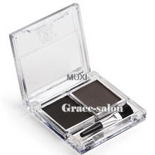 2 Colors Makeup Eyebrow Powder Palette Cosmetics Shadding Eye Brow Cake Natural
