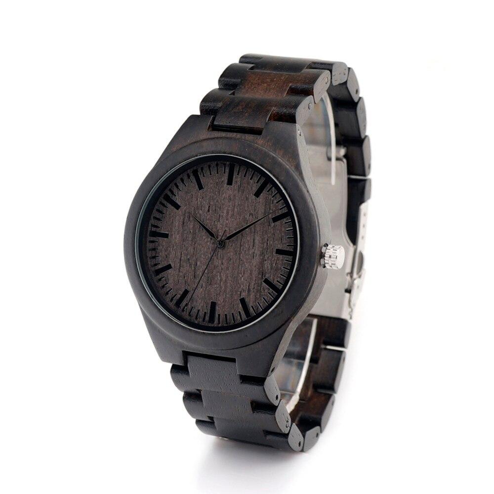 BOBO BIRD H05 Mens Black Ebony Wooden Watch Wood Links Causal Wood Quartz Wrist Watch for Men in Gift Box<br><br>Aliexpress