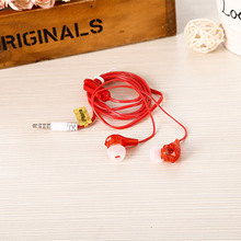 K-02 Wholesale 3.5mm In-Ear earphones crystal headset headphones with microphone for a mobile phone and MP3 MP4