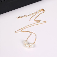 Fashion accessories wholesale Japanese style VIVI magazine is recommended Cotton pearl pendant necklace Collarbone chain