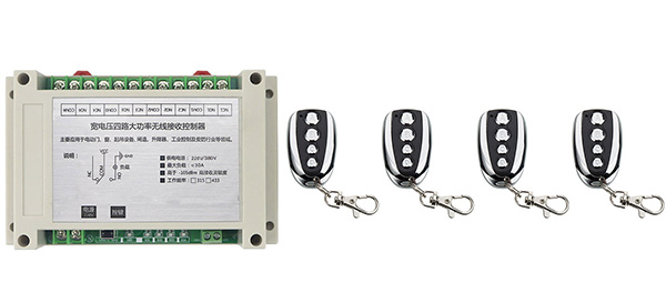 AC220V 250V 380V 30A 4CH Remote Control Garage Door RF Wireless Remote Control Switch System Transmitter+ Receiver<br>