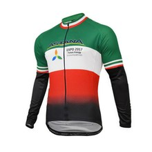 SPRING SUMMER 2017 ASTANA TEAM ITALIA CHAMPION ONLY LONG SLEEVE ROPA CICLISMO CYCLING JERSEY CYCLING WEAR SIZE XS-4XL