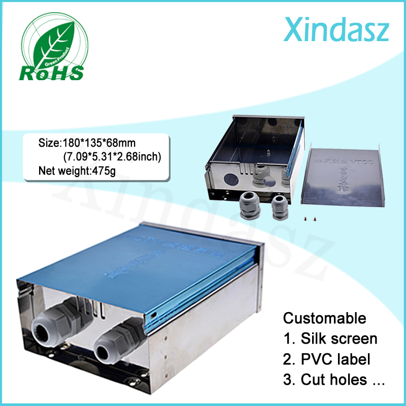 CCTV custom DIY aluminum project box enclosure electronic outdoor enclosures 180*135*68mm<br>