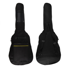 "SOACH 1pcs 40"" 41"" Acoustic Guitar Double Straps Padded Bass Case Bag Classic Soft Waterproof Guitar black Gig Backpack Bag(China)"