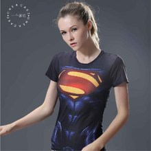 Buy S.B.KENI brand fashion women's short sleeve T-shirt 3 d printing superman batman slender female 3 d short sleeve T-shirt for $5.80 in AliExpress store