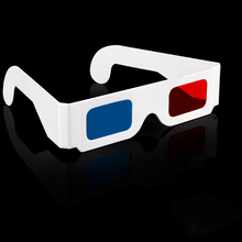 2pcs/lot Universal Paper Anaglyph 3D Glasses red cyan (blue) 3D glasses paper sizes 3 points, 2pcs/LOT 3D glasses