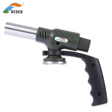 Portable Gas Torch For BBQ Cooking Soldering Butane Flame Gun Auto Ignition Blow Jet Burner Lighter Welding Burning Iron Heating