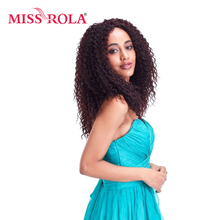 Miss Rola 1# Long Curly Synthetic Hair Extension 120g 100% Kanekalon Fiber Hair Weave 1pc/lot Sew In Weave(China)