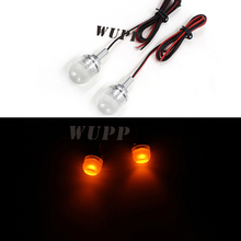 WUPP 12V Orange Led Motorcycle Car Flashing License Plate Screw Bolt Light Lamp Bulb Retail Wholesale Motorcycle Accessories(China)
