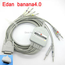 Compatible edan 10K EKG cable 10 lead ecg cable banana 4.0 on terminal