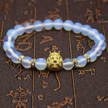 2016 Transparent Opal Stone Beads Owl Jewelry  And Lion Bracelets For Women and Men Jewelry Stone Bracelets & Bangles Pulseras
