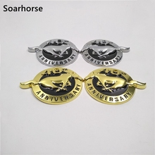 Soarhorse New Emblem For Ford Mustang 40th Anniversary Fender Side Badge Sticker Name plate(China)