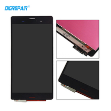 "Buy 5.2"" Black Sony Xperia Z3 L55t D6603 D6643 D6653 LCD Display touch screen digitizer Full Assembly Replacement Parts for $19.29 in AliExpress store"