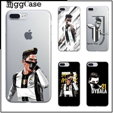 Dybala Cover Football TPU soft silicone Cases for iPhone 6 6s 5 5s SE 7 Plus Paulo Dybala Costa Sport Stars Phone Case Cover(China)