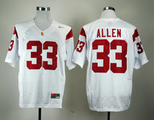 Nike Jerseys USC Trojans Marcus Allen 33 College Ice Hockey Jerseys White M,L,XL,XXL,3XL(China)