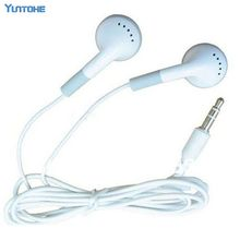 Wholesale White Cheapest Disposable Earphone for School for bus or train or plane for School Company Gift in Opp bag 6000pcs/lot