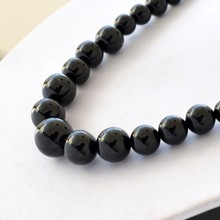 Beads 6-14mm natural black carnelian necklace chain natural stones fine jewelry vintage accessories necklace women chain