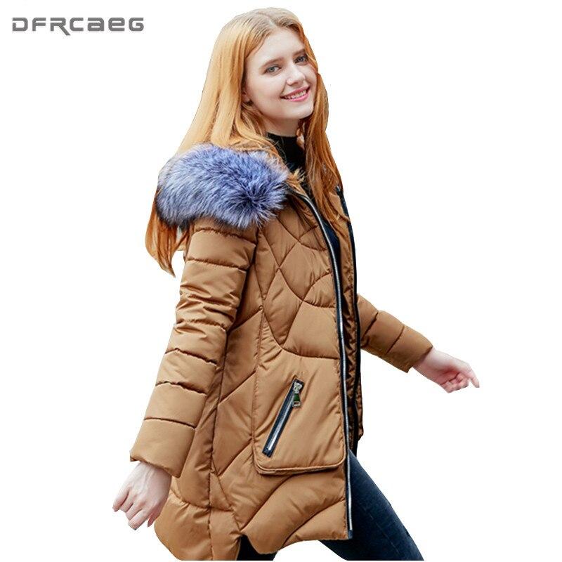 L-3XL Thicken Winter Fur Hoodies Parka For Womens 2017 Fashion Long Sleeve Cotton Padded Jacket Outwear Casual Warm Overcoat Îäåæäà è àêñåññóàðû<br><br>