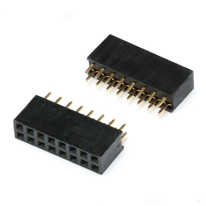 2x8Pin Female Double Row Straight Pin (2)