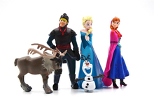 5Pcs / Set Snowman Olaf Hot Toys For Kid Fashion Action Figures Princess Elsa Anna Prince Anime Figures Juguetes kids best gifts