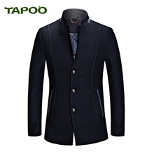 Mens Wool Winter Coats Sobretudo Masculino England Style Coats Fashion 2017 AutumnTapoo Brand Trench long male jacket(China)