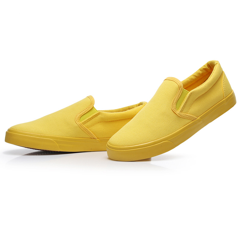 Women Vulcanize spring auntum Shoes Summer Breathable fashion Trainers Casual Shoes Cheap yellow Canvas Platform Shoes Sneakers (16)