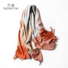 TRESPRETTYWY Autumn Winter New Wool Scarf Plaid Students' Woven Shawl Women&men's Knitted Scarf(China)