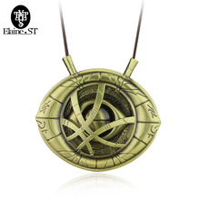 Doctor Strange Necklaces Dr.Strange Steve Cosplay Agamotto Eye Rope Chain Pendent Necklaces Fashion Jewelry Christmas Gift(China)