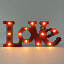 48cm Romantic LED light Indoor Wall Decoration Lamps White Plastic Letter LOVE Night Lights Home Christmas Decoration