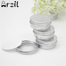 10Pcs/lot Tin Box Screw Thread Small Round Lip Balm Metal Box 36x17mm Cosmetics Cream for Travel Portable Container(China)