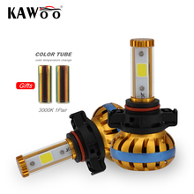 KAWOO H16 PSX24W 5202 Automobiles Head Lamp Car Led Head Lights Auto Bulb Headlamp 6500K And 3000K DIY Front Lights Lighting