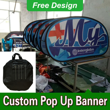 Free Design Free Shipping Vertical Top Banner Frame Pop Up Advertising Signs A Frame Banner(China)